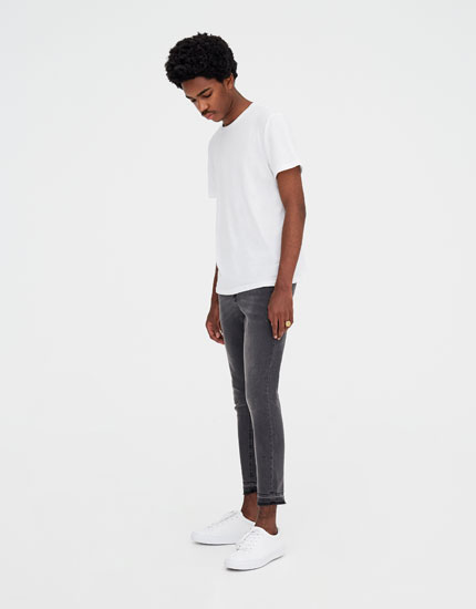 Superskinny-Jeans in Grau