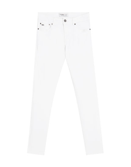 Super skinny white jeans