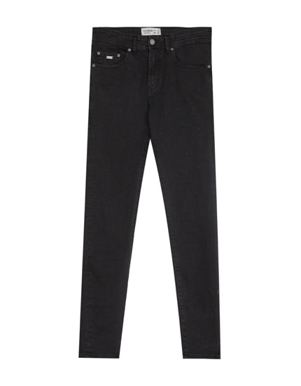 Sorte, skinny fit jeans
