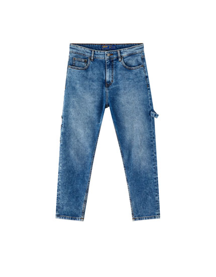 Slim fit carpenter jeans blauw