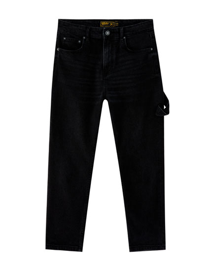 Blue slim fit carpenter jeans