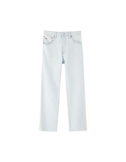Regular comfort fit jeans met zijstreep