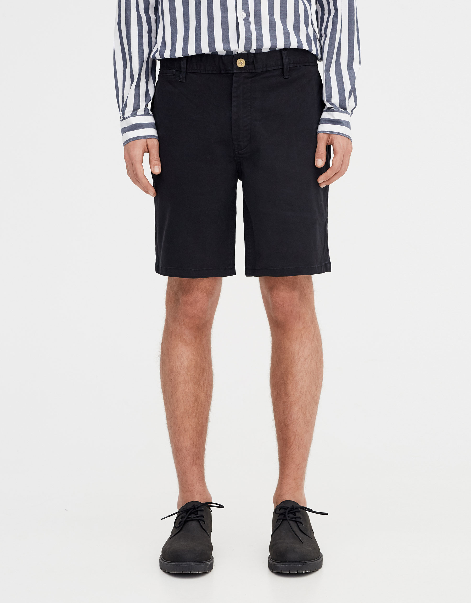 6001b4cebc Pull & Bear Basic Bermuda shorts with belt at £19.99 | love the brands