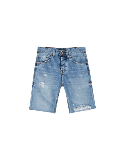 Bermudes denim regular