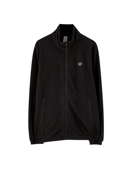 Zipped fleece jacket
