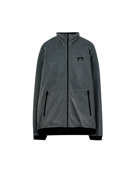 Zipped fleece jacket