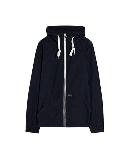 Hooded poplin jacket