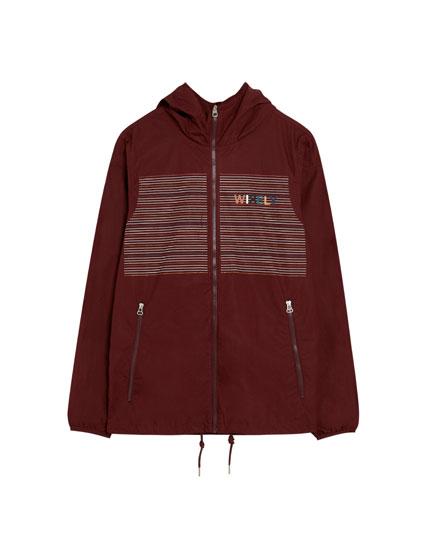 Printed poplin jacket