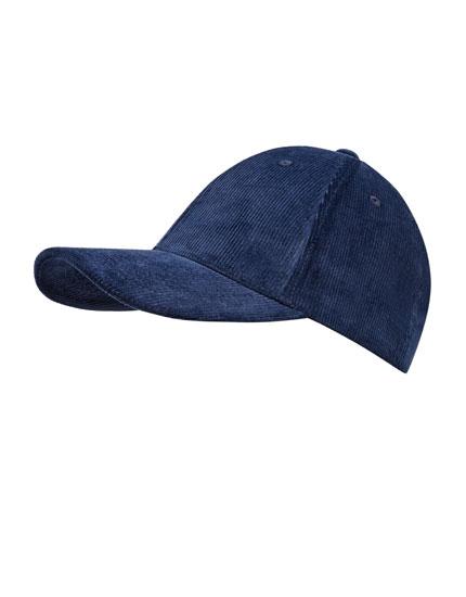 Basecap aus Cord mit gebogenem Visor