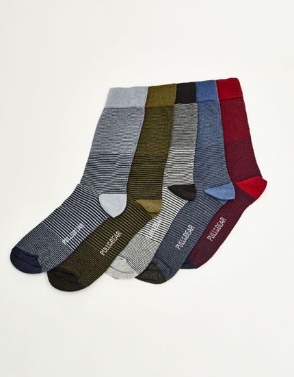 Pack de 5 paires de chaussettes mi-mollet