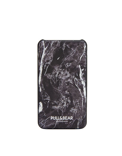 Marble print power bank