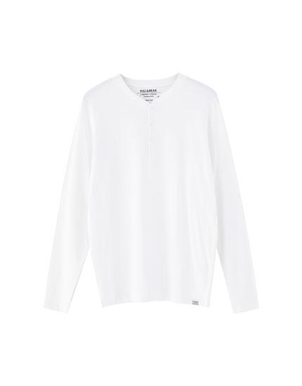 Camiseta manga larga cuello panadero