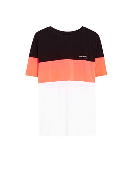 Pacific Republic colour block T-shirt