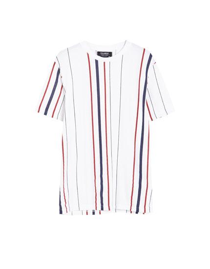 Pikee-Shirt mit Längsstreifen