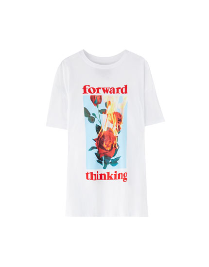 'Forward thinking' print T-shirt