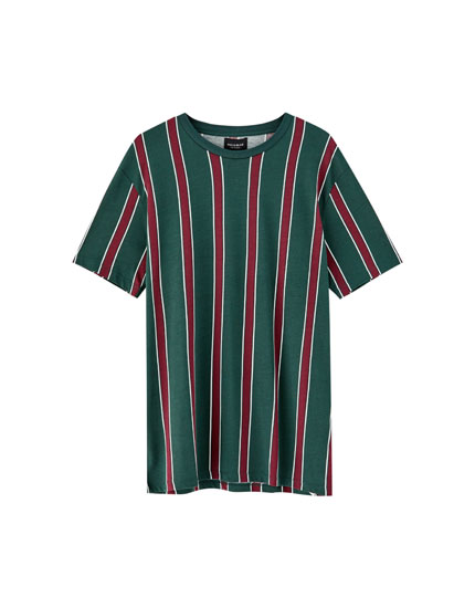T-shirt with wide vertical stripes