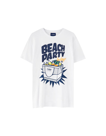 "T-Shirt mit Kühlbox ""Beach Party"""