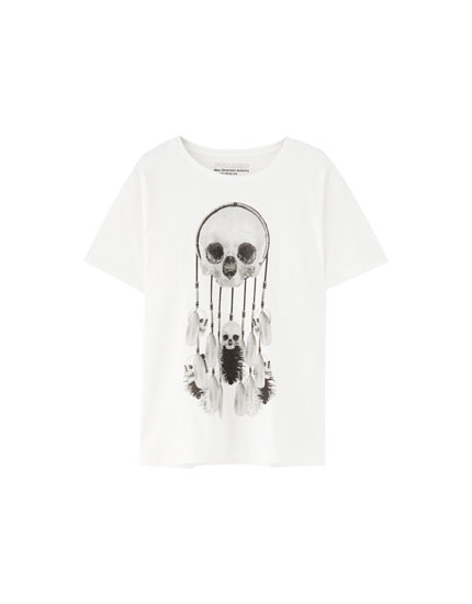 Skull dreamcatcher T-shirt
