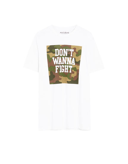T-shirt 'Don't Wanna Fight' kamuflage