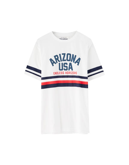'Arizona USA' striped T-shirt