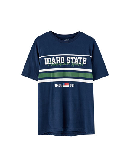'Idaho State' striped T-shirt