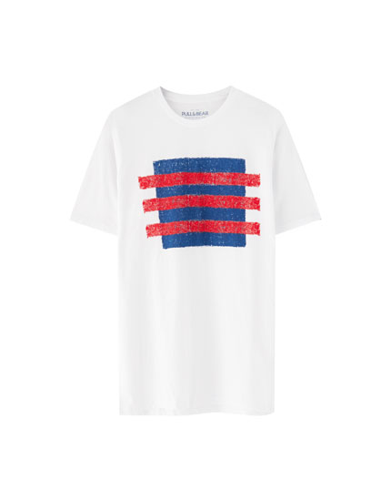Striped square T-shirt