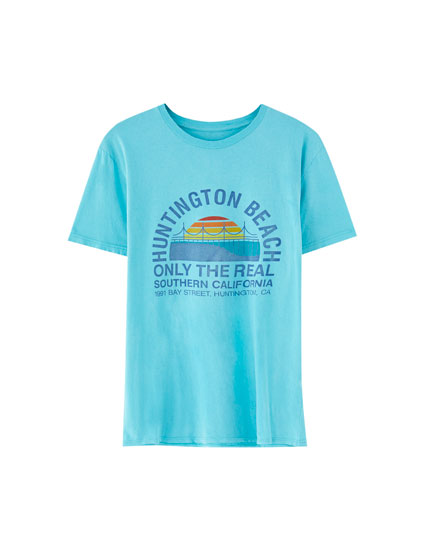 "Tricou din bumbac ""Huntington Beach"""