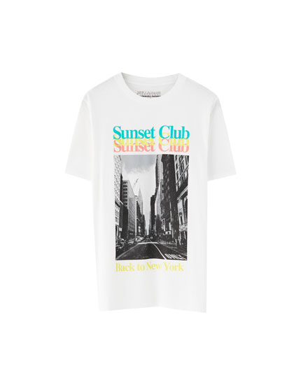 Playera algodón 'Sunset Club'