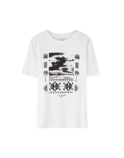 T-Shirt mit Fotoprint im Ethnic-Look
