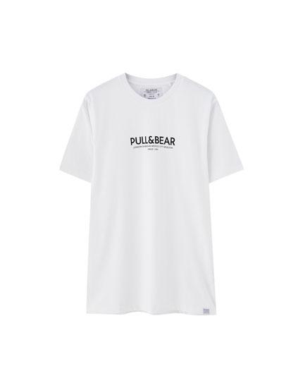 Camiseta con logo Pull&Bear