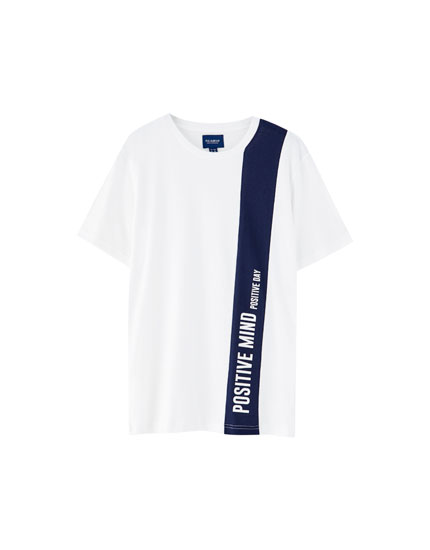 Vertical colour block T-shirt