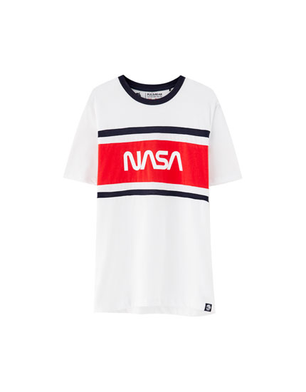 Nasa T-shirt with stripes