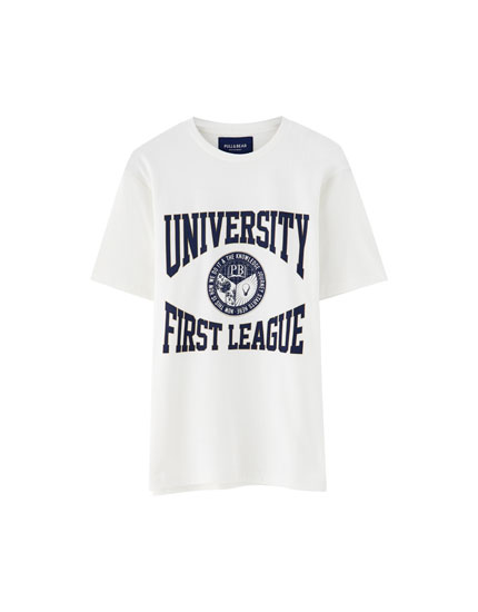 College-Shirt mit Slogan