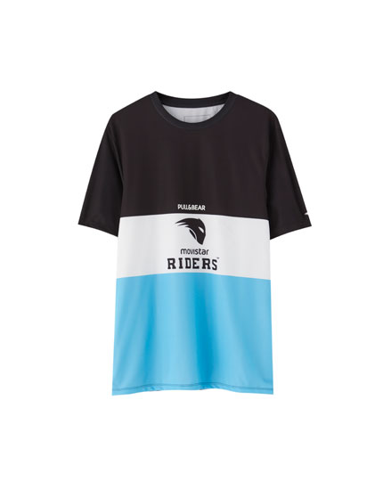 Tricou Movistar Riders cu model color block