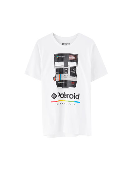 T-shirt Polaroid appareil photo