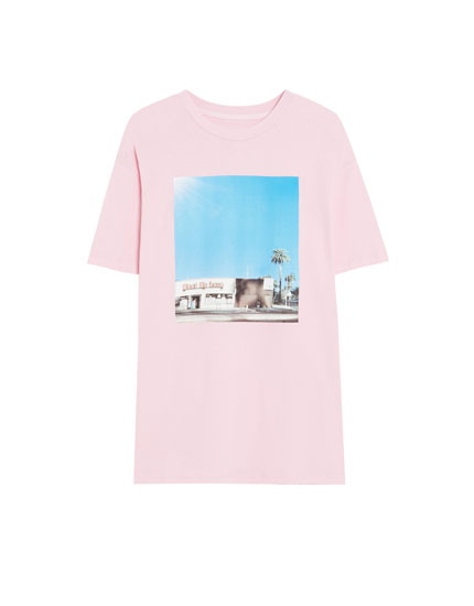 'Meet Me Here' photographic print T-shirt