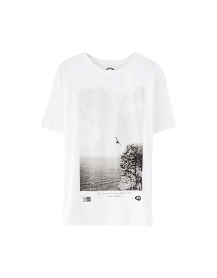 T-shirt imprimé photo saut