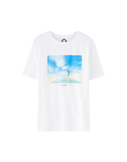 Road photo print T-shirt