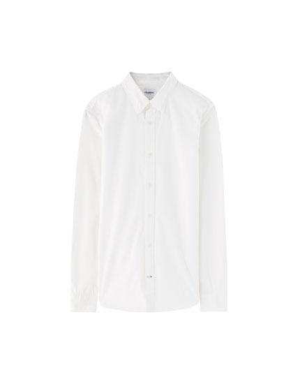 Basic overhemd met lange mouw