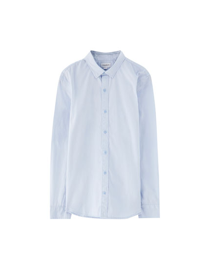 Camisa manga larga algodón