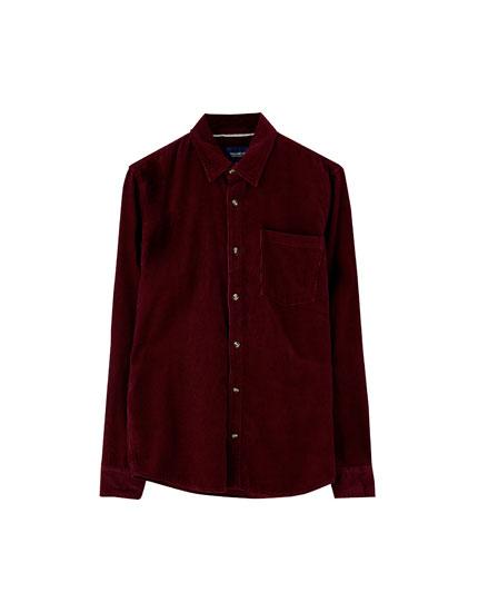 Basic corduroy overhemd