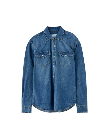 Chemise denim cow-boy