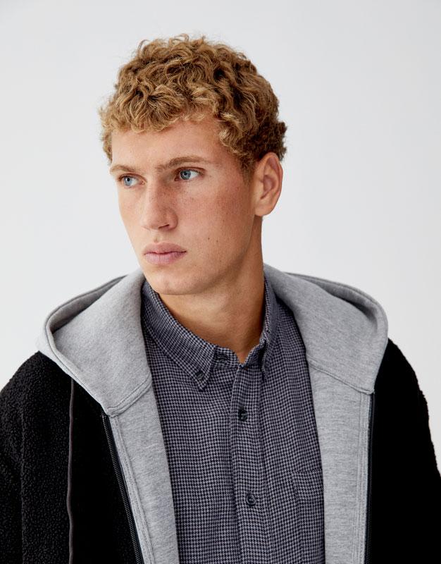 Camisa Básica De Flanela Com Estampado Pata De Galo by Pull & Bear