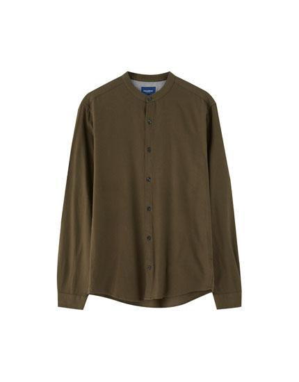 Overhemd met maokraag en lange mouw