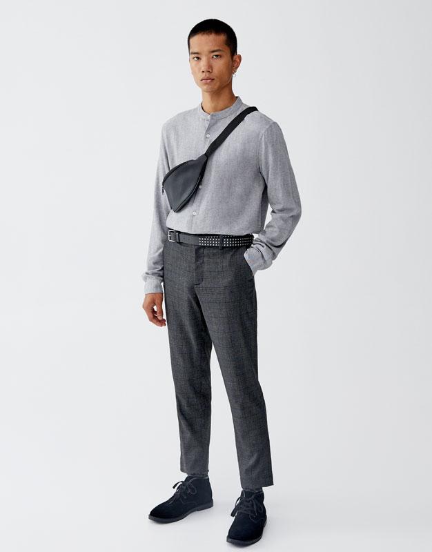 Overhemd Met Maokraag En Lange Mouw by Pull & Bear