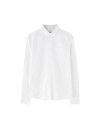 Basic-Oxfordhemd mit Tasche