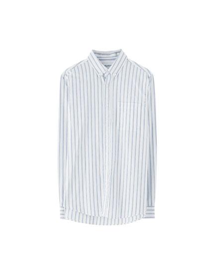 Camisa básica Oxford bolsillo