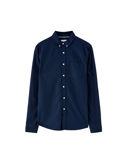 Basic Oxford shirt with pocket