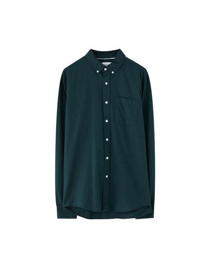 Basic oxford-overhemd met zakje