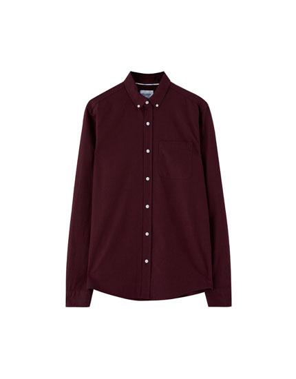 Basic oxford-skjorte med lomme